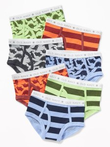 Dinosaur-Print Briefs Underwear 7-Pack for Toddler Boys - Dino